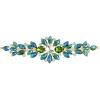 Crystal Motifs Floral 18cm Green Aurora Borealis/gold